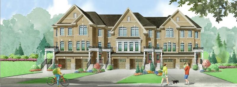 Elements Townhomes at Rossland Road East & Salem Road North, Ajax, Ontario. Image 4