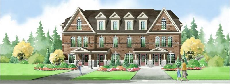 Elements Townhomes at Rossland Road East & Salem Road North, Ajax, Ontario. Image 6