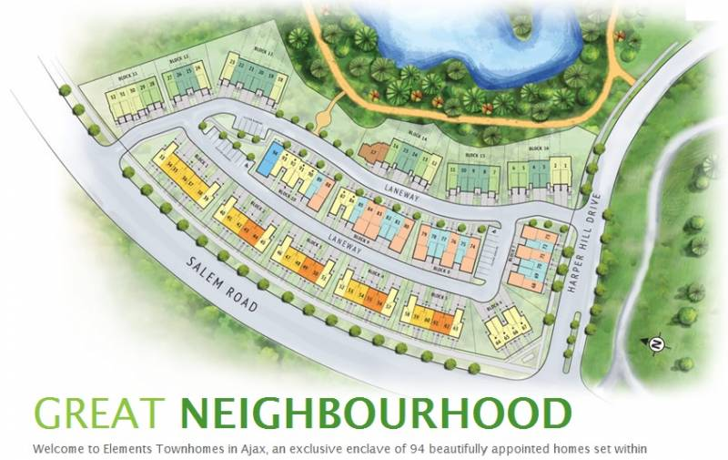 Elements Townhomes at Rossland Road East & Salem Road North, Ajax, Ontario. Image 7