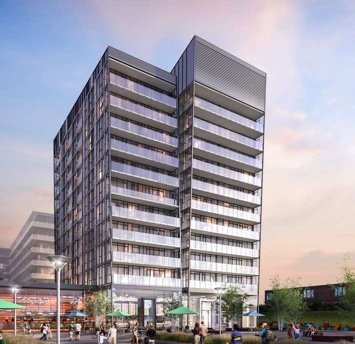 Riverside Square- East Collection at 677 Queen Street East, Toronto, Ontario. Image 1