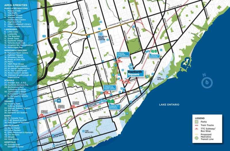 Danforth Square at 250 Danforth Road, Toronto, Ontario. Image 5