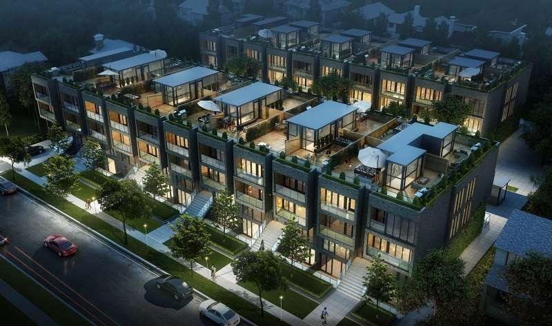 Sherwood Park Modern Towns at Eglinton Avenue East & Mount Pleasant Road, Toronto, Ontario. Image 4