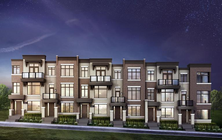 Luna Towns at Dufferin Street and Rutherford Road, Vaughan, Ontario. Image 1