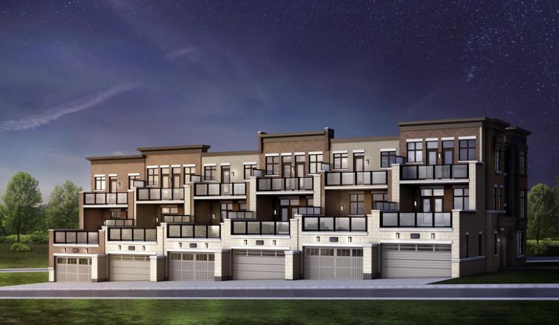 Luna Towns at Dufferin Street and Rutherford Road, Vaughan, Ontario. Image 3