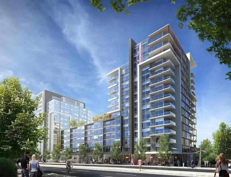 Tower Green at West in False Creek at West 2nd Avenue and Columbia Street, Vancouver, British Columbia. Image 2