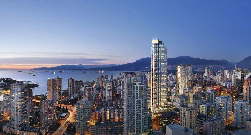 Burrard Place at Burrard Street and Drake Street, Vancouver, British Columbia. Image 1