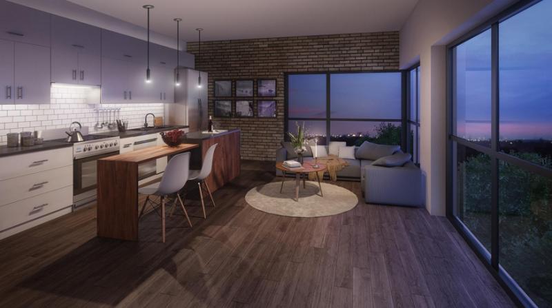 Midtown Lofts at 690 King Street West, Kitchener, Ontario. Image 1