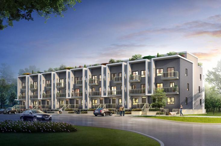Avalon Urban Towns at 1430 Highland Road West, Kitchener, Ontario. Image 1