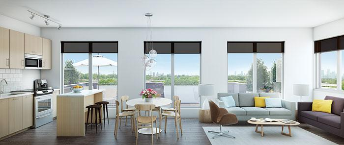 Scoop Condos at 1791 Saint Clair Avenue West, Toronto, Ontario. Image 3