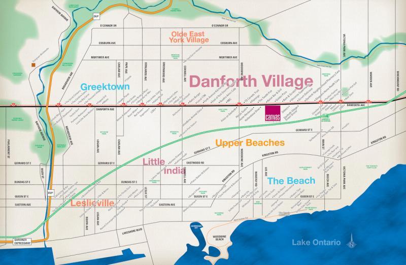 Canvas Condos at 2301 Danforth Avenue, Toronto, Ontario. Image 7