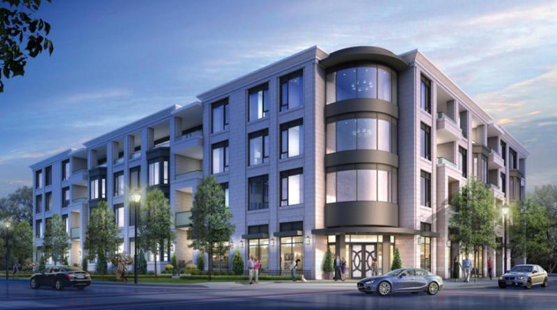The Saxony Condominiums at Elgin Street and Locust Street, Burlington, Ontario. Image 3