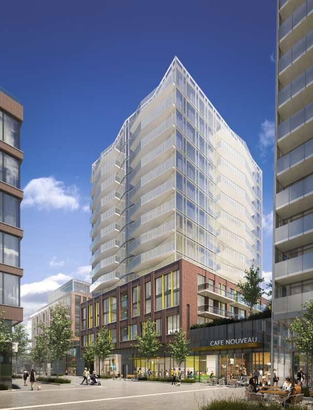 Riverside Square- Central Collection at 677 Queen Street East, Toronto, Ontario. Image 1