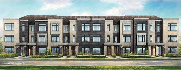 Mount Pleasant Contemporary Townhomes at Mississauga Road and Wanless Drive, Brampton, Ontario. Image 1