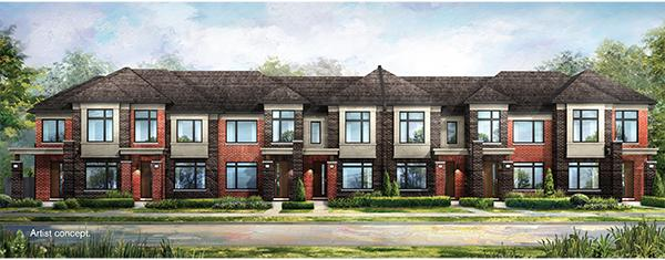 Mount Pleasant Contemporary Townhomes at Mississauga Road and Wanless Drive, Brampton, Ontario. Image 2