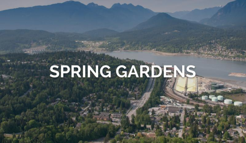 Spring Gardens at St John Street and Douglas Street, Port Moody, British Columbia. Image 1