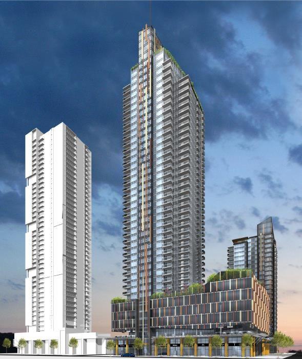Sun Towers Metrotown at 6380 Silver Avenue, Burnaby, British Columbia. Image 2