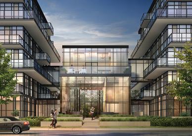 The West Condominiums at Stationwest at 101 Masonry Court, Burlington, Ontario. Image 1