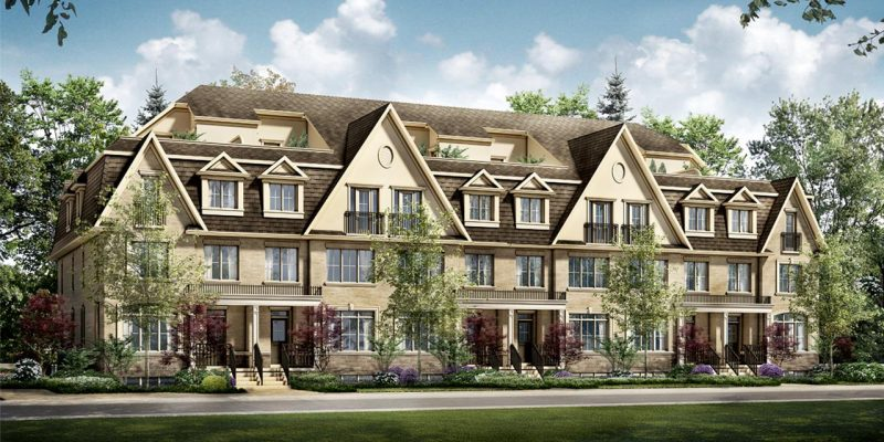 The Brook Townhomes at Jane Street and Springside Road, Vaughan, Ontario. Image 1