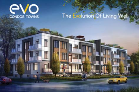Evo Condos and Towns at Birchmount Road and Lawrence Avenue East, Toronto, Ontario. Image 1