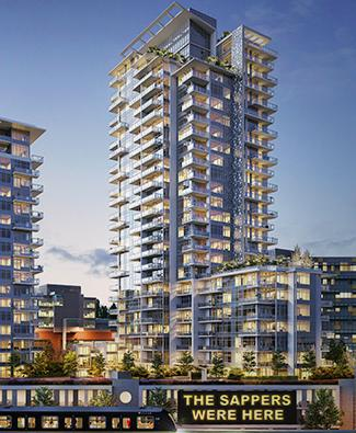 The Columbia at Brewery District at East Columbia Street and Brunette Avenue, New Westminster, British Columbia. Image 1