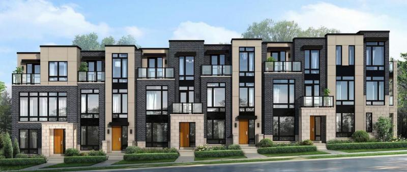 Abbey Lane Towns at Lord Melbourne Street, Markham, Ontario. Image 1
