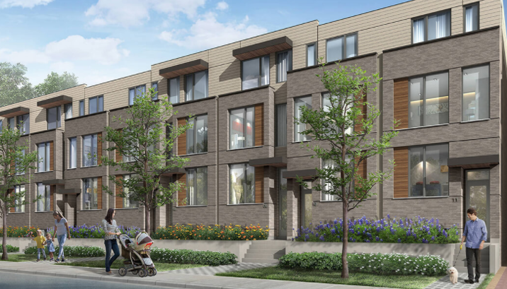 The Yorkdale Townhomes On the Park at 168 Ranee Ave, Toronto Central, Ontario. Image 1