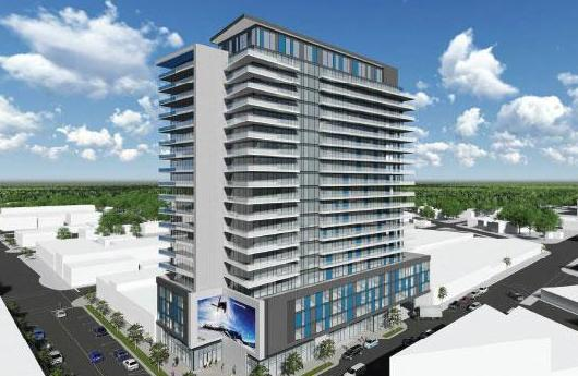 The Residences at Five Points at Bayfield Street and Dunlop Street West, Barrie, Ontario. Image 1