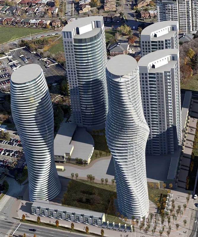 absolute Building D at Hurontario St & Burnhamthorpe Rd W, Mississauga, Ontario. Image 7