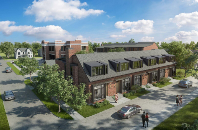King George School Lofts & Residences at 400 Park Ave, Newmarket, Ontario. Image 2