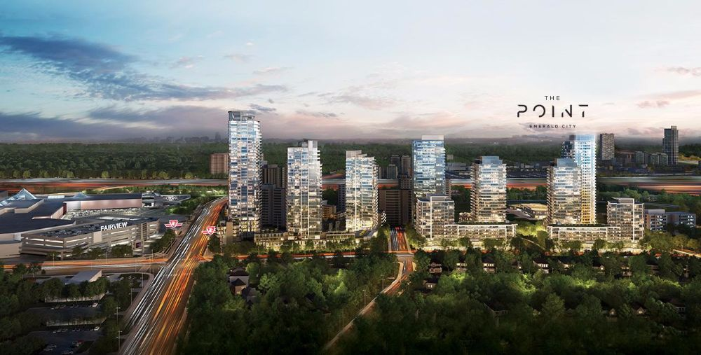 The Point at Emerald City at 01 Don Mills Rd, Toronto Central, Ontario. Image 1