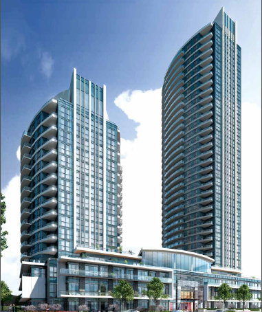 Perla Towers at Hurontario St, Mississauga, Ontario. Image 1
