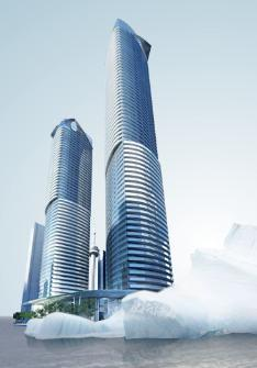 Ice Phase II - Condominiums at York Center at York St and Bremner Blvd, Toronto, Ontario. Image 1