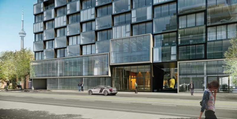 Thompson Residences at 629 King St West, Toronto, Ontario. Image 7