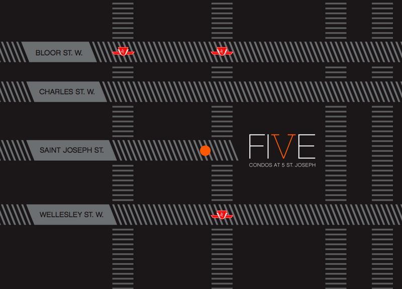 5 Condos at 5 St. Joseph at 5 St Joseph St., Toronto, Ontario. Image 18