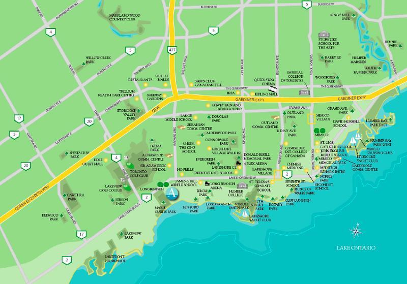 Aquaview Condominiums at 3865 Lake Shore West, Toronto, Ontario. Image 2
