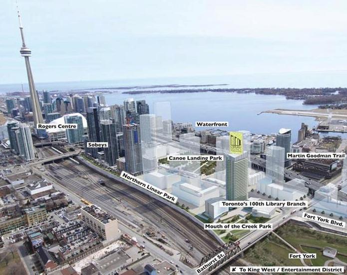 Library District Condominiums at 170 Fort York Blvd, Toronto, Ontario. Image 4
