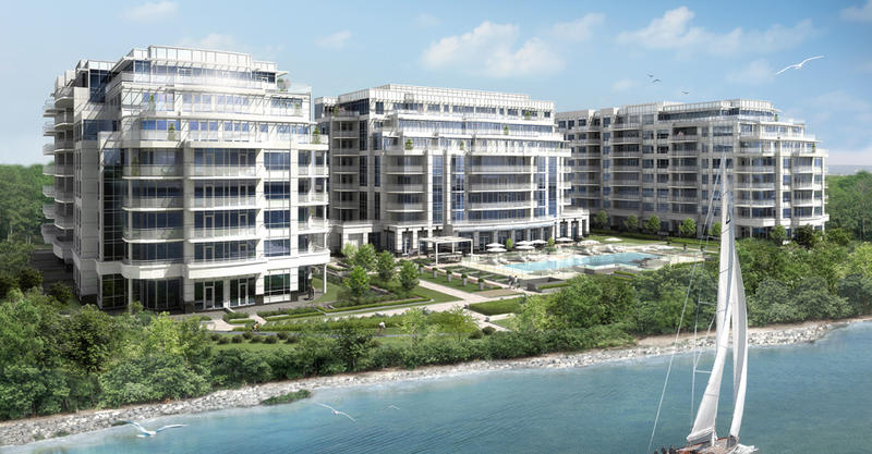 Bluwater Condominiums at 3500 Lakeshore Road West, Oakville, Ontario. Image 1
