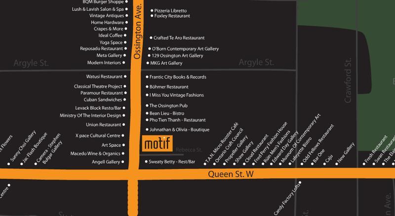 Motif Lofts and Towns at 41 Ossington Avenue, Toronto, Ontario. Image 1