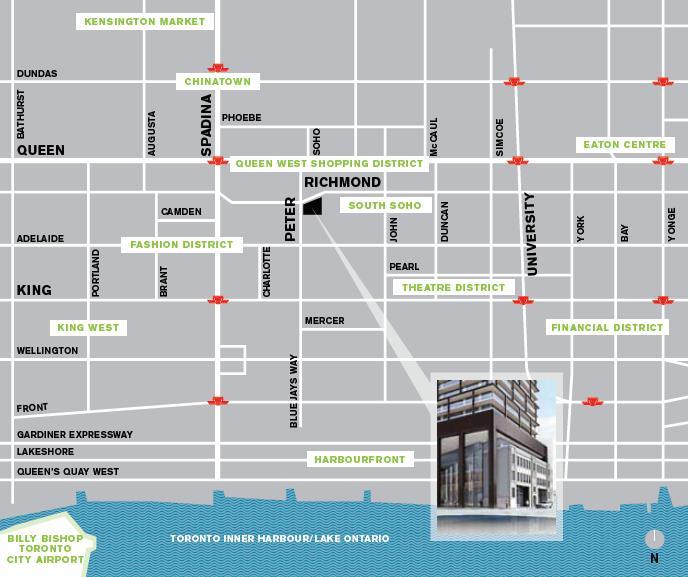 Tableau Condominiums at 117 Peter Street, Toronto, Ontario. Image 2