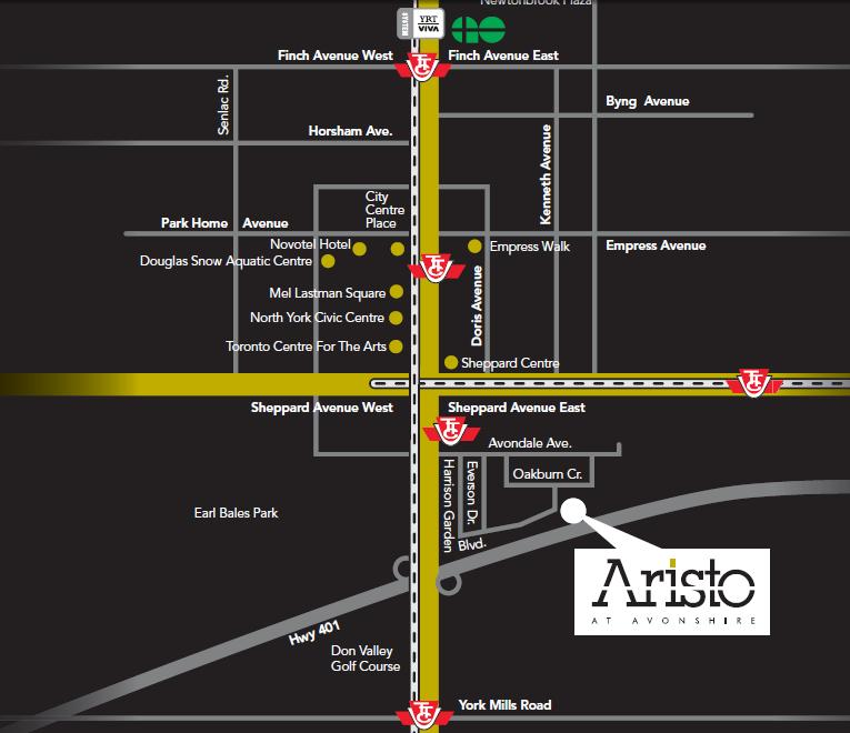 Aristo at Avonshire at 120 Harrison Garden Blvd, Toronto, Ontario. Image 4