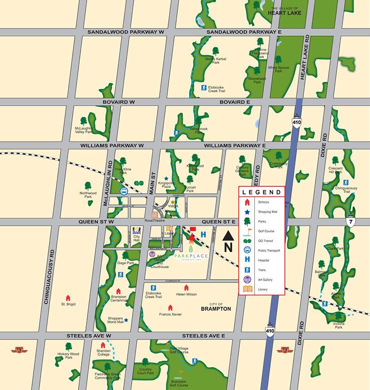 Park Place Condominiums at 100 James Street, Brampton, Ontario. Image 3