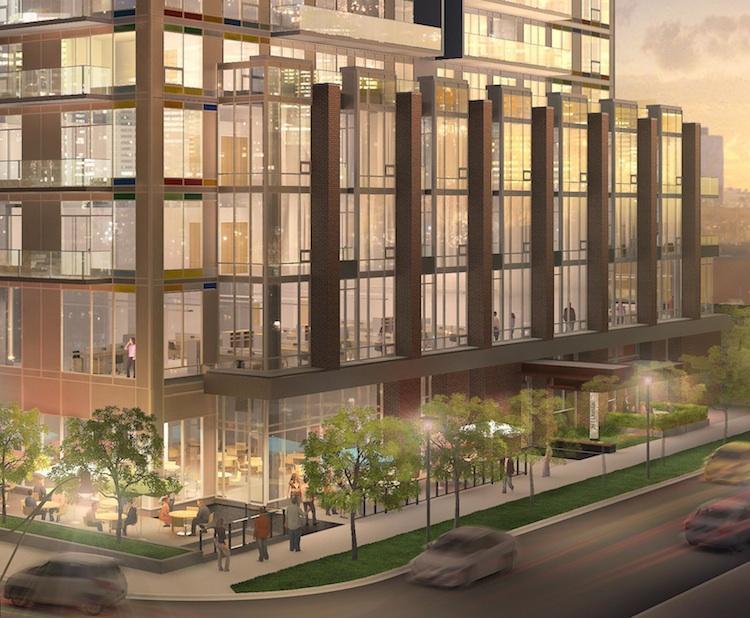 Paintbox Condominiums at 591 Dundas St East, Toronto, Ontario. Image 4