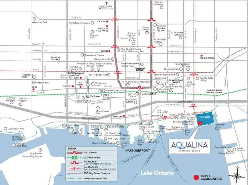 Aqualina Bayside at 223-263 Queens Quay E, Toronto, Ontario. Image 14