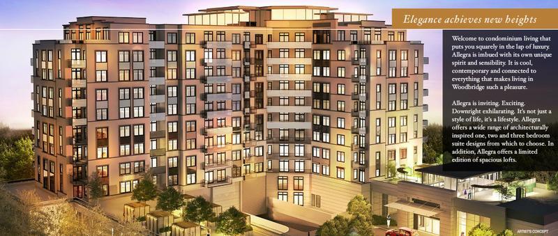 Allegra Condominiums at Hwy 7 & Woodstream Blvd, Vaughan, Ontario. Image 1