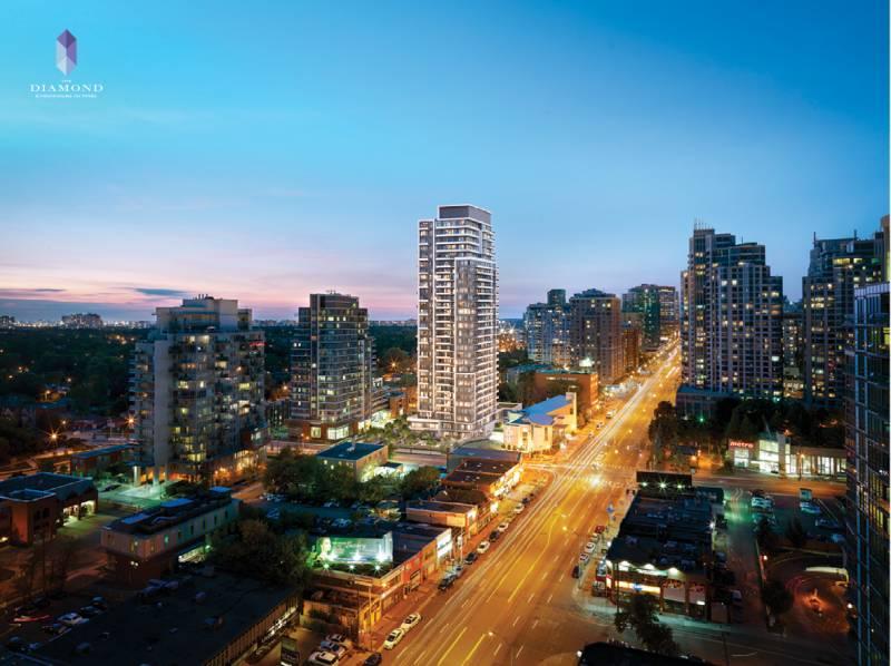 The Diamond Condominiums on Yonge at 75 Canterbury Place, Toronto, Ontario. Image 3