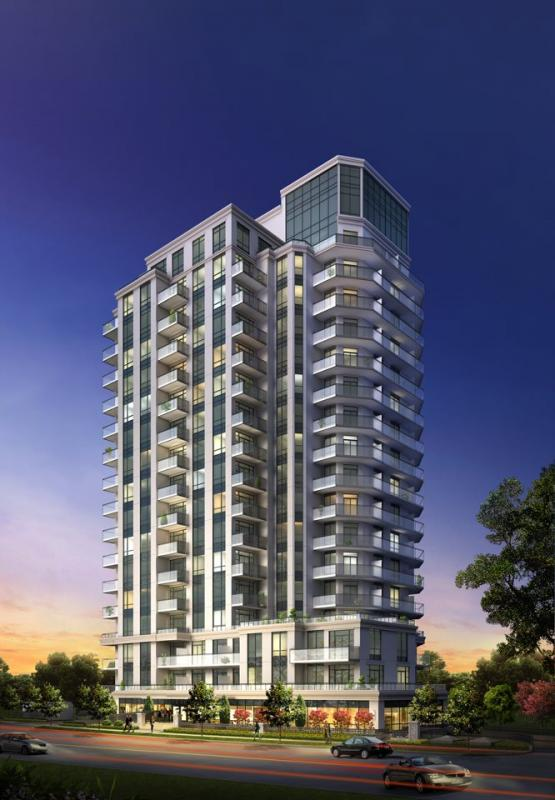The Lexington Condominium Residences by the Park at 840 Queens Plate Drive, Toronto, Ontario. Image 1