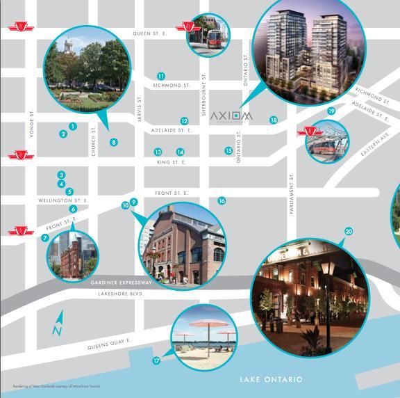 Axiom Condos at 424 Adelaide St E, Toronto, Ontario. Image 2