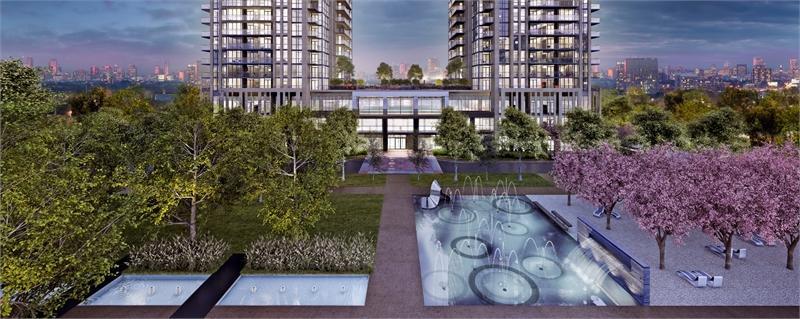 Park Towers Condominiums at IQ at Zorra Street, Toronto, Ontario. Image 1