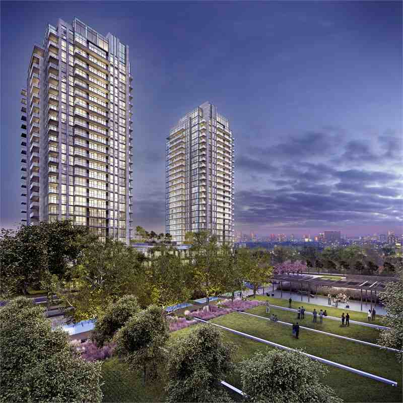 Park Towers Condominiums at IQ at Zorra Street, Toronto, Ontario. Image 2