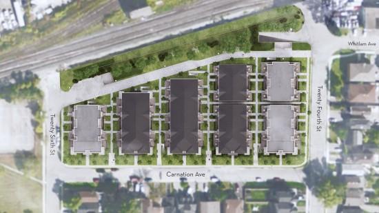Minto Southshore at Twenty Fourth St & Carnation Ave, Toronto, Ontario. Image 6